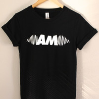 AM Sound Waves Black Graphic Unisex Tee