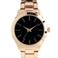 ASOS Rose Gold Sleek Boyfriend Watch