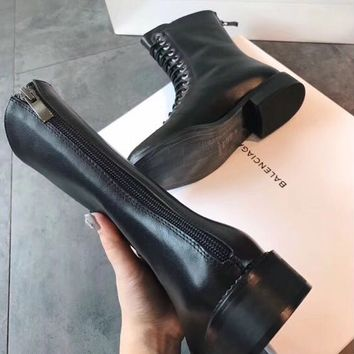 Givenchy Straps with barrel and rear zipper short boots