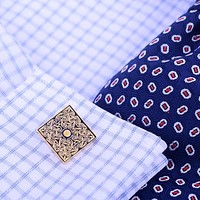 Gold Picasso French Cufflink