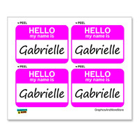 Gabrielle Hello My Name Is - Sheet of 4 Stickers