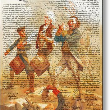 The United States Declaration Of Independence And The Spirit Of 76 20150704v1 Metal Print