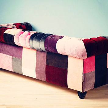 VELVET PATCH  chesterfield patchwork sofa by namedesignstudio