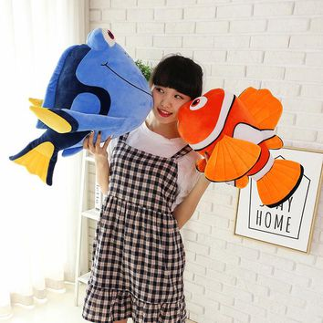New Hot Big 1pcs 45cm Lovely Finding Nemo Clownfish Plush Toy Clown Fish Nemo Soft Stuffed Doll Gift Children's Birthday Present