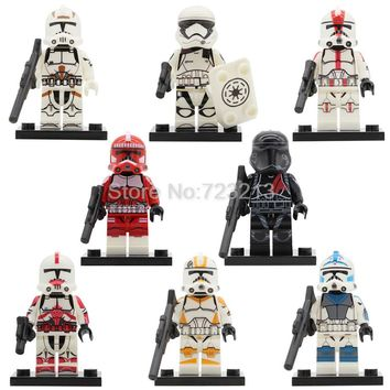 Star Wars PG8097 Clone Trooper Figure Imperial Army Military Stormtrooper Building Kits Blocks Brick Set Model Toys