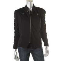 Style & Co. Womens Petites Knit Ruched Jacket