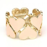 Hugs and Kisses Heart Cutout Stretch Bracelet In Pink | Sincerely Sweet Boutique