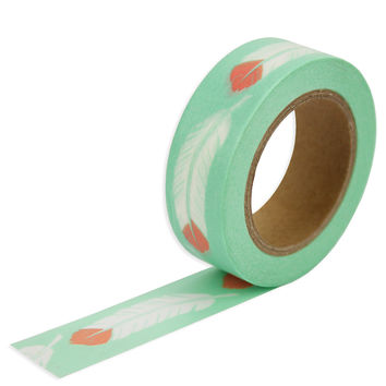 Mint Feather Washi Tape