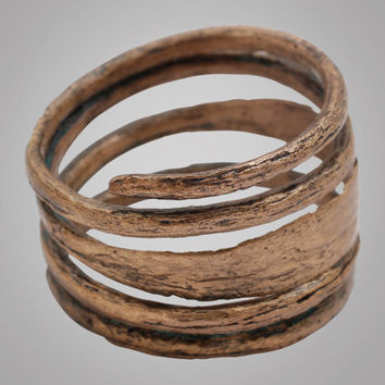 Ancient  Viking Mans Coil Wedding Ring C.866-1067A.D. Size 9 1/2 (18.7mm) (BRR740) Antique Vintage Band
