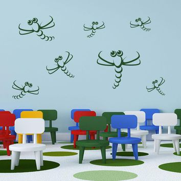 Dragonfly II Decal Wall Decal Set