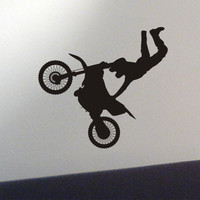 Dirtbike wall decal - motocross sticker