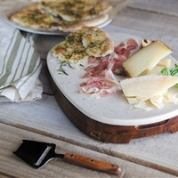 SheilaShrubs.com: Carrara Marble-Top Cheese Board and Tools Set - Acacia 962-00-506-000-9 by Picnic Time: Cutting Boards