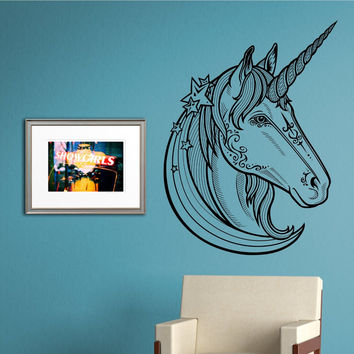 Unicorn Head Version 101 Wall Vinyl Decal Sticker Art Graphic Sticker