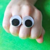 SALE 2 googly eyes rings by alliterations on Etsy