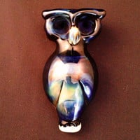 Black Owl Glass Pipe