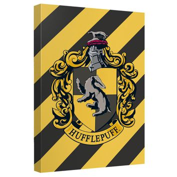 Harry Potter - Hufflepuff Crest Canvas Wall Art With Back Board
