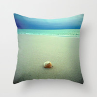 Seashell Pillow | Beach Photography | Decorative Throw Pillow Cover | Beach House Decor | Nature Photography | Beach Photograph ModernBeach