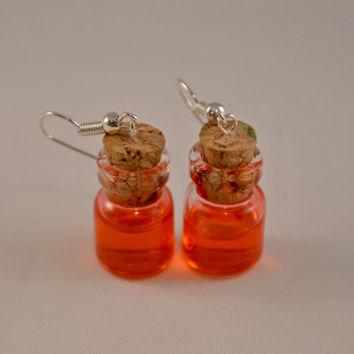 Gifts for Her // Gifts for Gamers // Holiday Gifts // Jewelry for Gamers // Small Health Potion Bottle Earrings