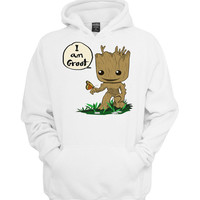 i am groot with butterfly hoodie >>>  Size S M L XL XXL 3XL  <<<