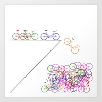 Bike 1, Vector, Design Art Print by Claude Gariepy