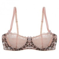Buy Mimi Holliday luxury lingerie - Mimi Holliday Frost Leopard Comfort Bra  | Journelle Fine Lingerie