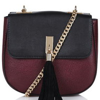 Tassel Saddle Bag - Oxblood