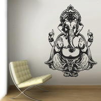 Wall Vinyl Sticker Decals Decor Art Bedroom Design Mural Ganesh Om Elephant Tattoo Hindu Mandala Tribal (z2927)