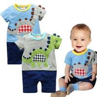 New Infant Dinosaur Boy 1pcs baby boys bodysuit baby boys girls One Piece jumpsuit one piece -IC = 1958372164