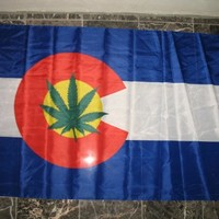 3x5 ft Colorado Cannabis USA Weed Marijuana Blunt Joint Flag 3' x 5' House Banner