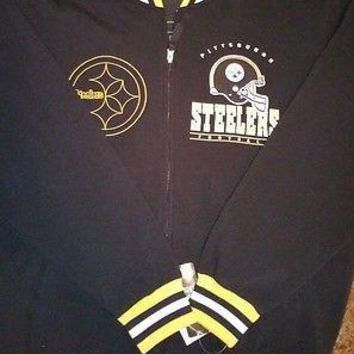 New PITTSBURGH STEELERS HARDKNOCK  FLEECE JACKET NFL TEAM APPAREL