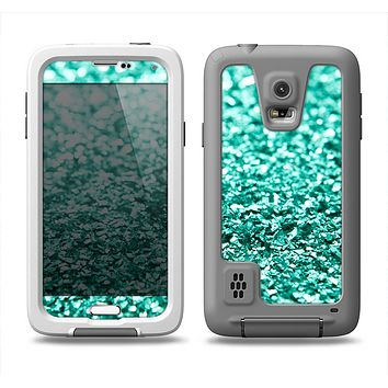 The Aqua Green Glimmer Samsung Galaxy S5 LifeProof Fre Case Skin Set