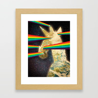 See Hear Smell Taste Rainbows Framed Art Print by thatssounicorny