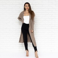 Graceful Ways Cardigan in Mocha