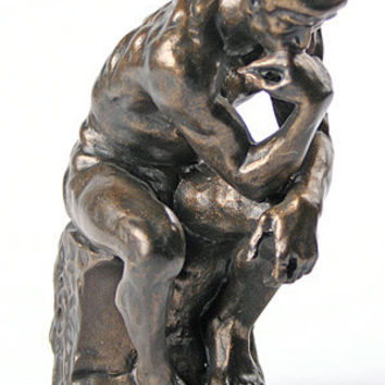 Thinker Statue of Deep Contemplation Museum Repllica by Rodin, Assorted Sizes