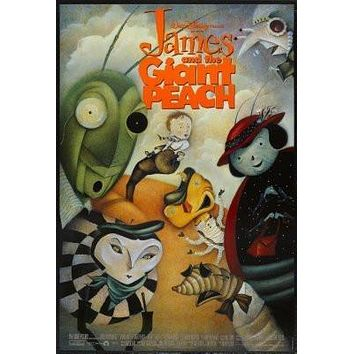 James And The Giant Peach Movie poster Metal Sign Wall Art 8in x 12in