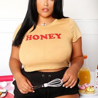 Oh Honey Plus Size Top Tops+ GS-LOVE