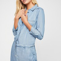 Military Denim Dress