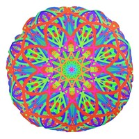 Amazed by Color Mandala Round Pillow