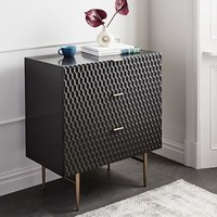 Audrey 3-Drawer Dresser - Charcoal