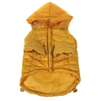 Lightweight Adjustable 'Sporty Avalanche' Pet Coat - Mustard Yellow