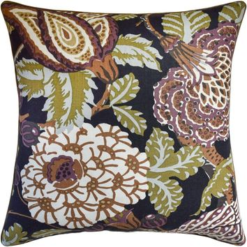 Mitford Black and Plum Pillow by Ryan Studio
