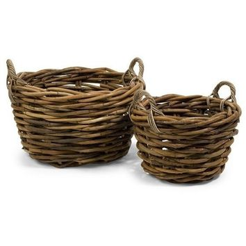 Outerbanks Rattan Round Basket Set