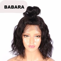 Short 360 Lace Frontal Wig Pre Plucked With Baby Hair
