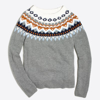 Metallic Fair Isle sweater