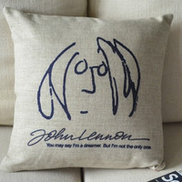 John Lennon Imagine Pillow Case