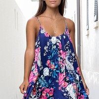 Flower Child Floral Spaghetti Strap Dress