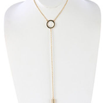 Pave Pendant Choker Drop Necklace