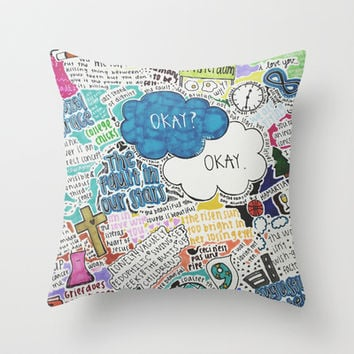 TFIOS Throw Pillow by Courtney Burns