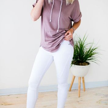 Pop Style White Moto Jeans