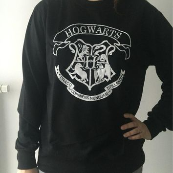 2017 Pullover Hoodies Harry Potter Hogwarts printed Sweatshirt Boys Girls sweatshirts Ladies Hooded Pullovers O-Neck Tenue Femme